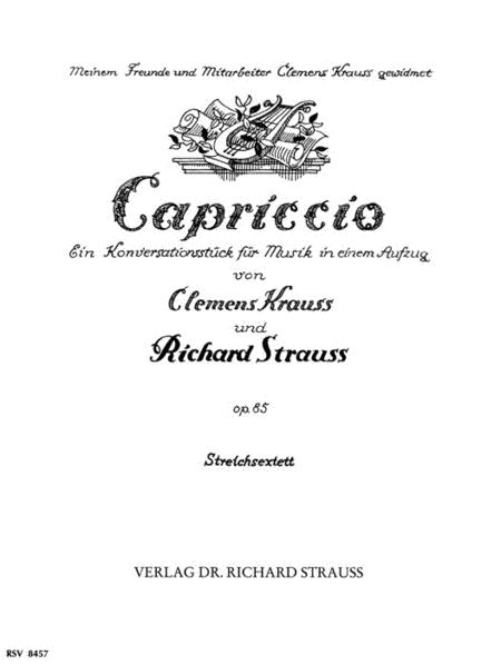 String Sextet (capriccio) Op85 Parts Str Chmbr