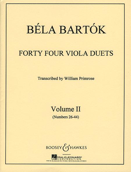 44 Duets - Volume 2 (Nos. 26-44)