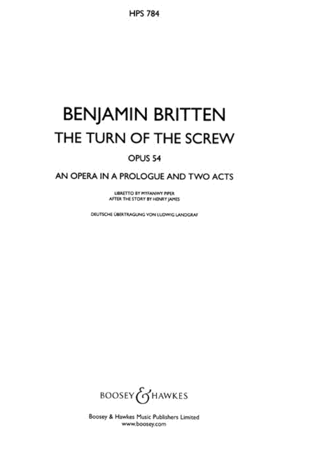 Turn of the Screw, Op. 54