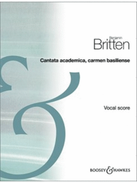 Cantata Academica, Carmen basiliense, Op. 62