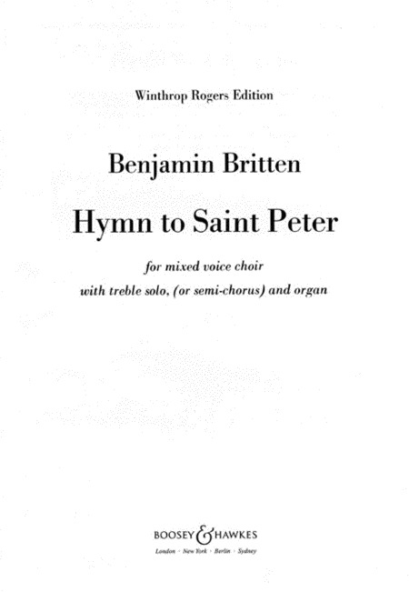 Hymn to Saint Peter, Op. 56a