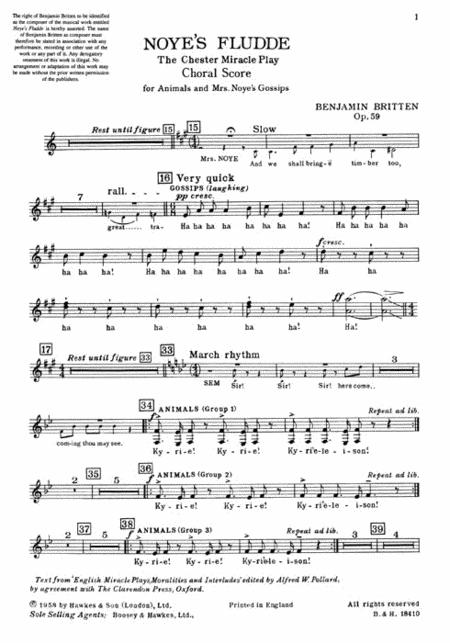 Noye's Fludde, Op. 59