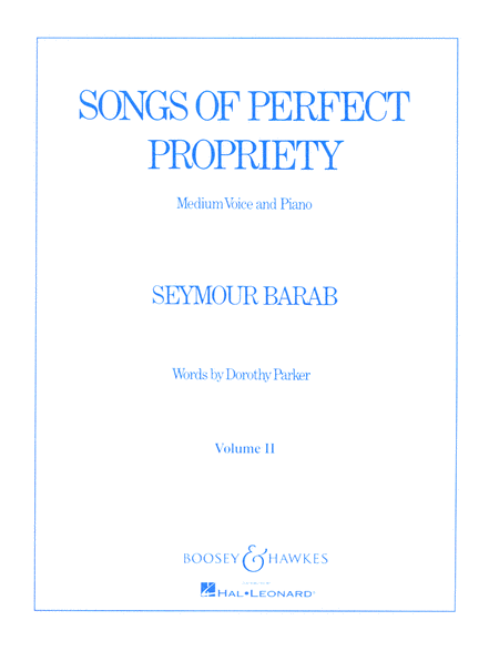 Songs of Perfect Propriety - Volume II