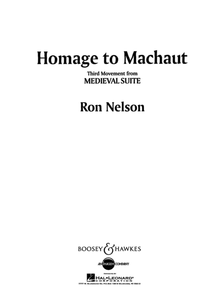 Homage to Machaut