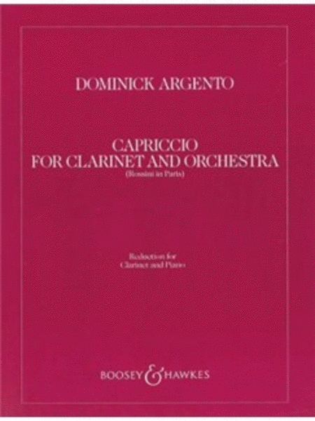 Capriccio for Clarinet and Orchestra