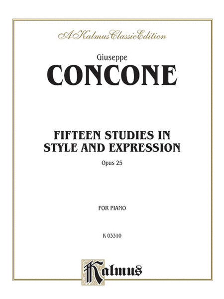 Concone 15 Studies Op. 25