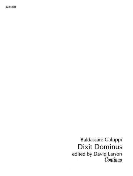 Dixit Dominus - Continuo