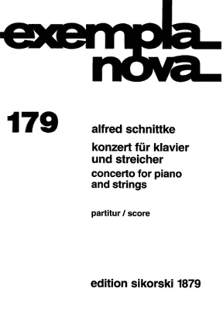 Concerto for Piano and Strings (1979)