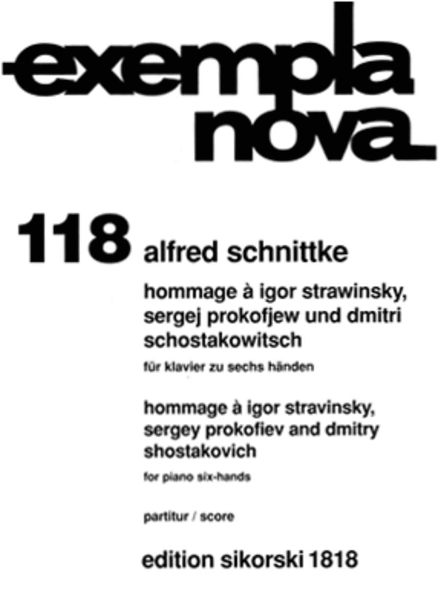 Hommage a Stravinsky, Prokofiev and Shostakovich (One piano, Six hands)