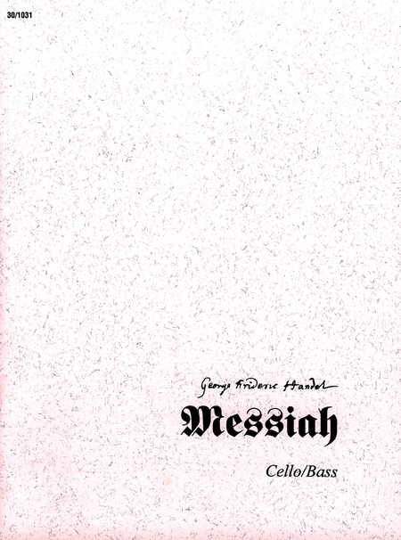 Messiah - Cello/Bass