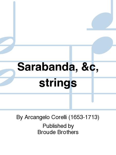 Sarabanda, &c, strings