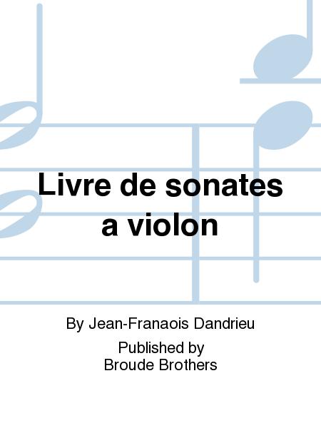 Livre de sonates a violon