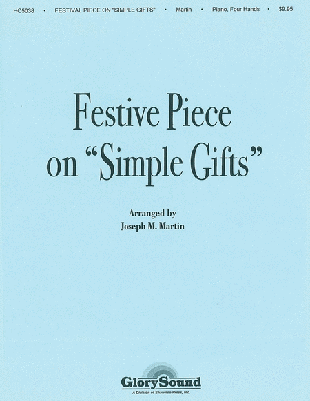 Festive Piece on 'Simple Gifts' Piano Duet