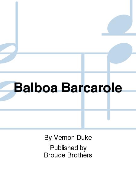 Balboa Barcarole