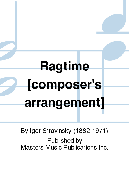 Ragtime [composer's arrangement]