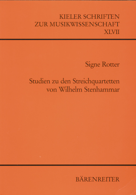 Studien zu den Streichquartetten von Wilhelm Stenhammar