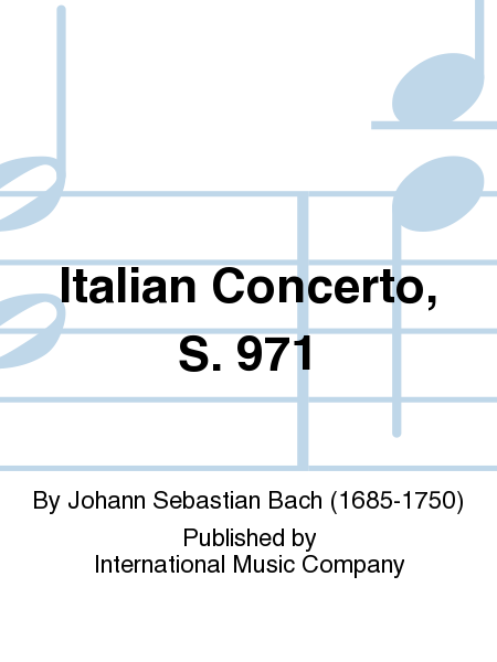Italian Concerto, S. 971