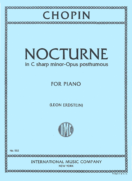 Nocturne in C sharp minor (Opus posthumous)