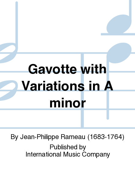 Gavotte with Variations in A minor