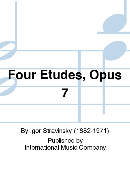 Four Etudes, Opus 7