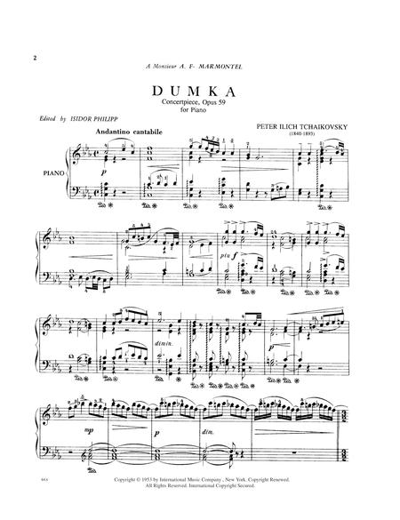 Dumka - Concertpiece, Op. 59