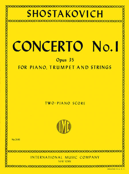 Concerto No. 1 in C minor, Op. 35 for Piano & Orchestra