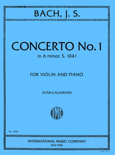 Concerto No. 1 in A minor, BWV 1041