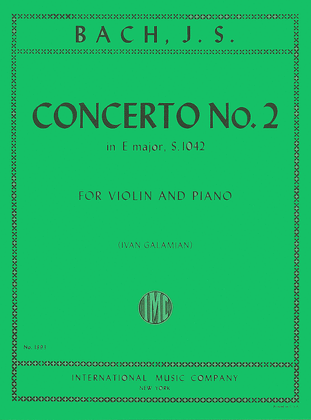 Concerto No. 2 in E major, BWV 1042