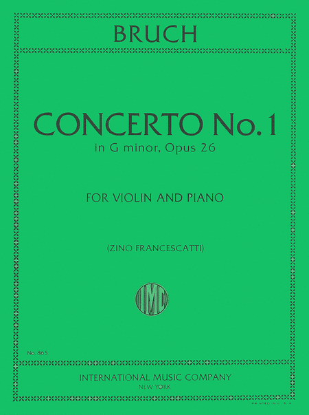 Concerto No. 1 in G minor, Opus 26