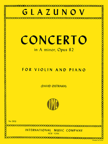 Concerto in A minor, Op. 82