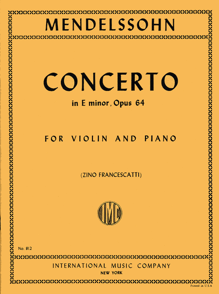 Concerto in E minor, Op. 64