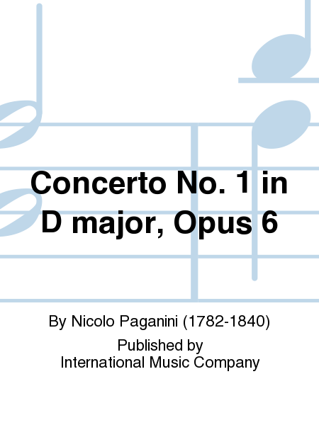 Concerto No. 1 in D major, Opus 6