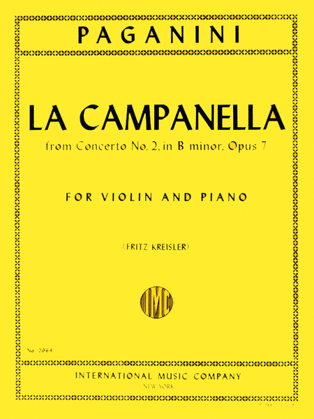 La Campanella (The Bell), Op. 7