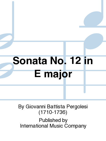 Sonata No. 12 in E major