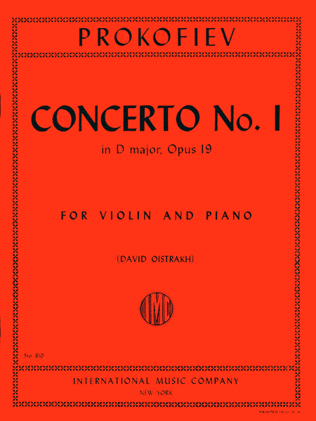 Concerto No. 1 in D major, Op. 19