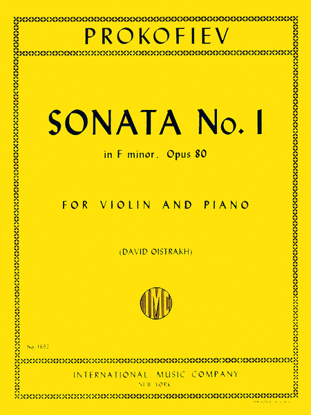 Sonata No. 1 in F minor, Op. 80