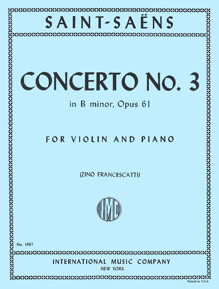 Concerto No. 3 in B minor, Opus 61