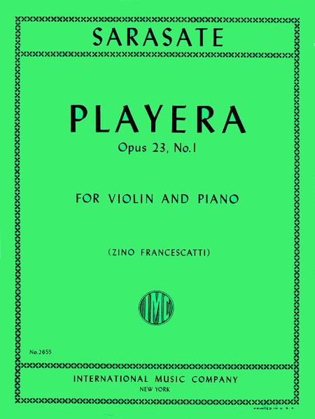 Playera, Op. 23 No. 1