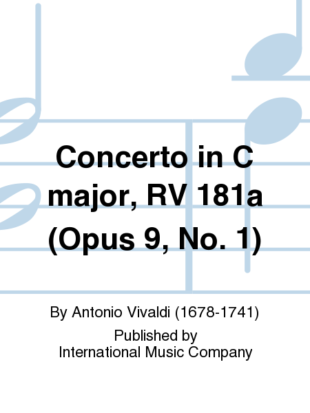 Concerto in C major, RV 181a (Opus 9, No. 1)