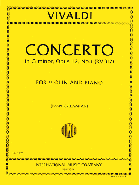Concerto in G minor, RV 317 (Op. 12, No. 1)