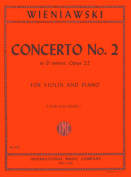 Concerto No. 2 in D minor, Opus 22