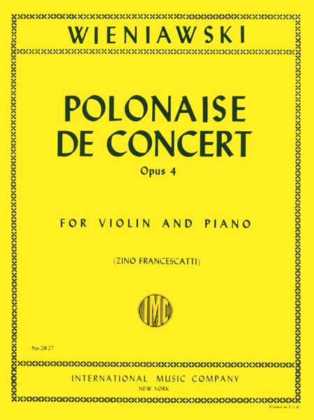 Polonaise de Concert in D major, Op. 4