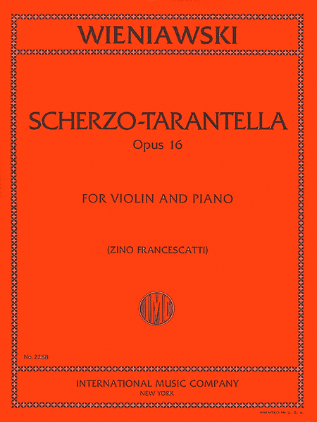 Scherzo-Tarantella, Opus 16