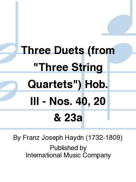 Three Duets (from