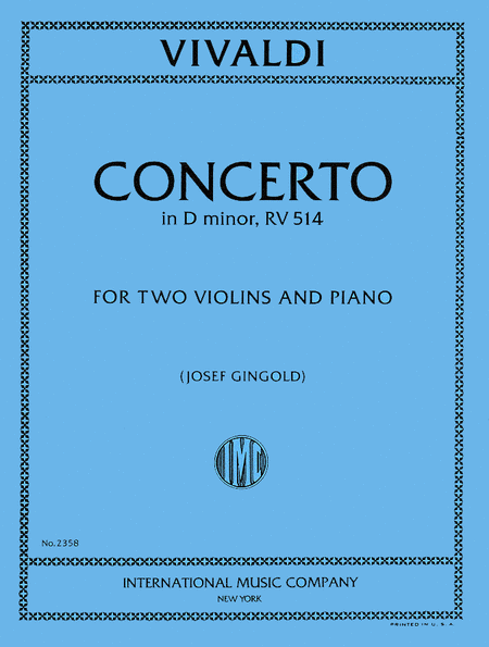 Concerto in D minor, RV 514