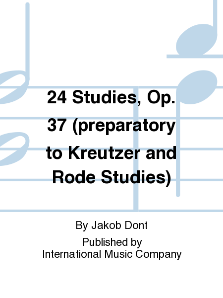 24 Studies, Op. 37 (preparatory to Kreutzer and Rode Studies)