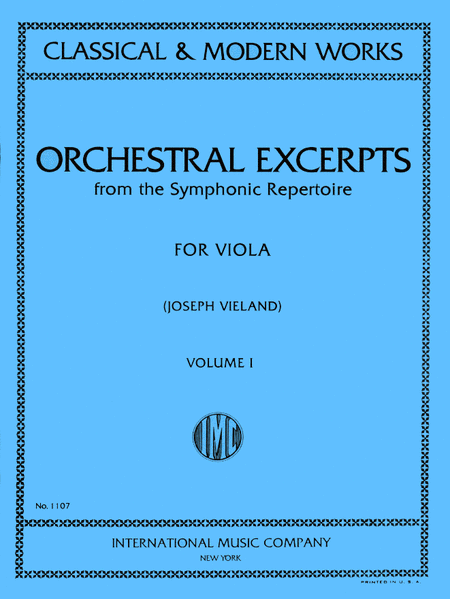 Orchestral Excerpts - Volume I