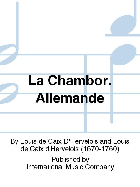 La Chambor. Allemande