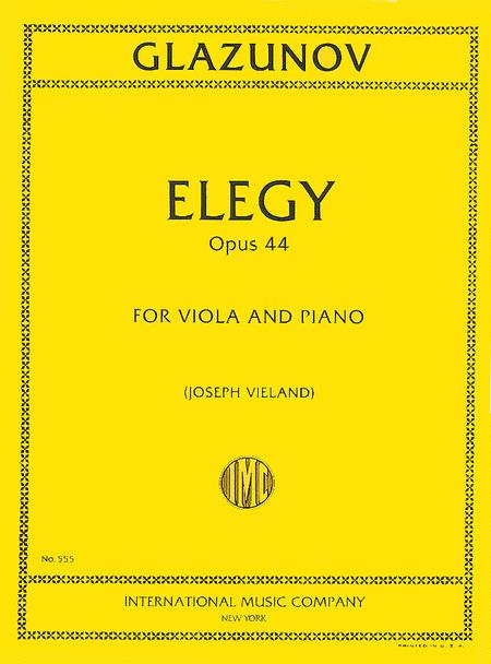 Elegy, Op. 44
