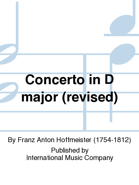 Concerto in D major (revised)